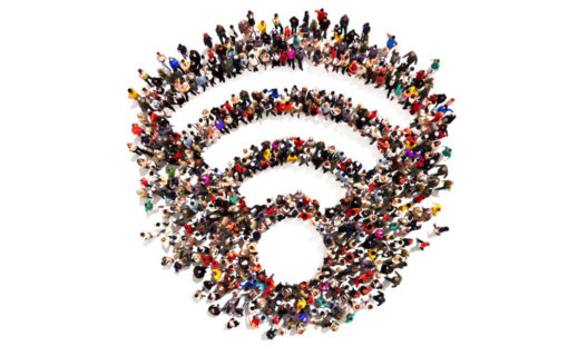 Join wifi network with social media
